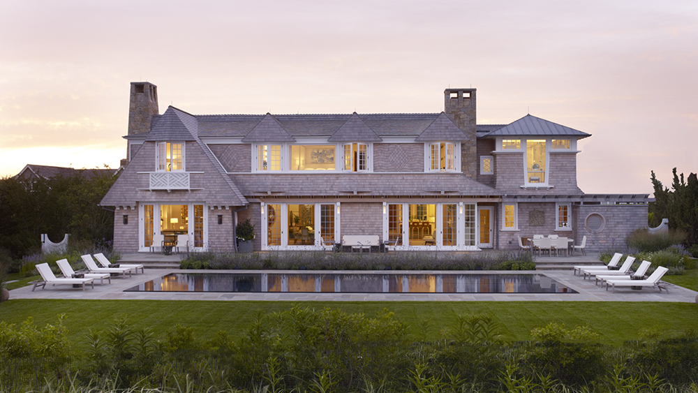 On the waterfront in the Hamptons, a main house for parents.