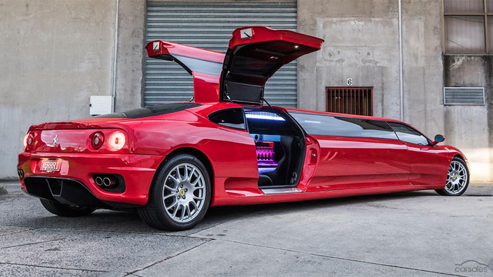 This Bonkers Ferrari Stretch Limousine Could Be Yours For 287 000 Robb Report