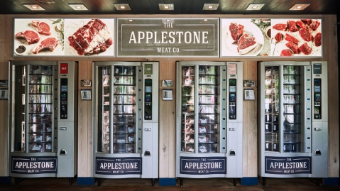 Applestone Meat Company meat vending machine