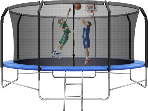Jins & Vico Recreational Trampoline with Safety Enclosure Net
