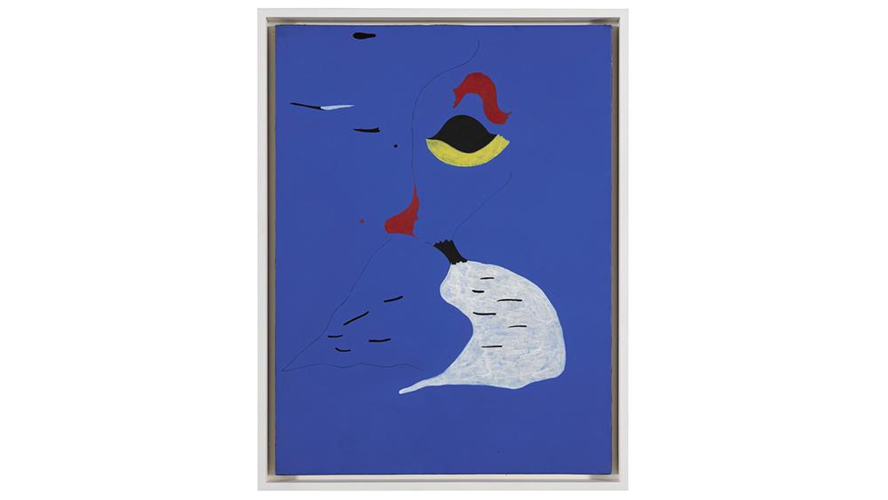 Miro's 'Femme au chapeau rouge,' that sold last month at auction in London.