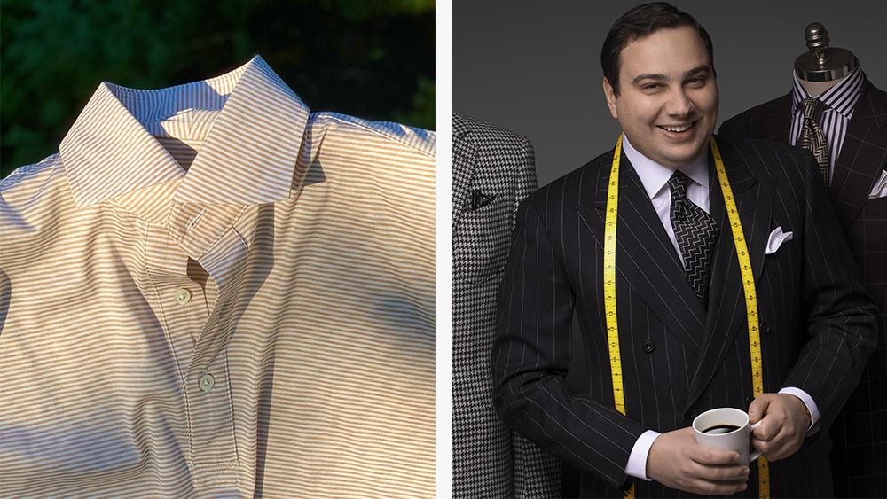A Paolo Martorano sport shirt and Martorano himself.