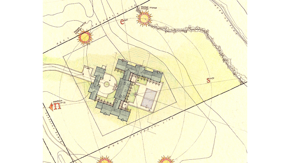 An early rendering of architect Patrick Ahearn's plan for the compound