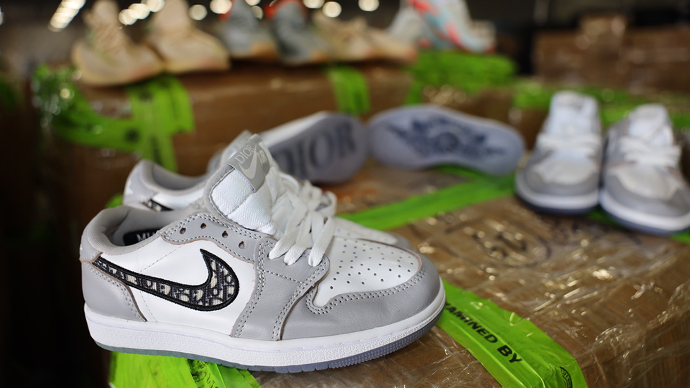Seized Counterfeit Dior x Air Jordan 1s