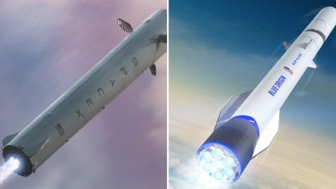 SpaceX Blue Origin