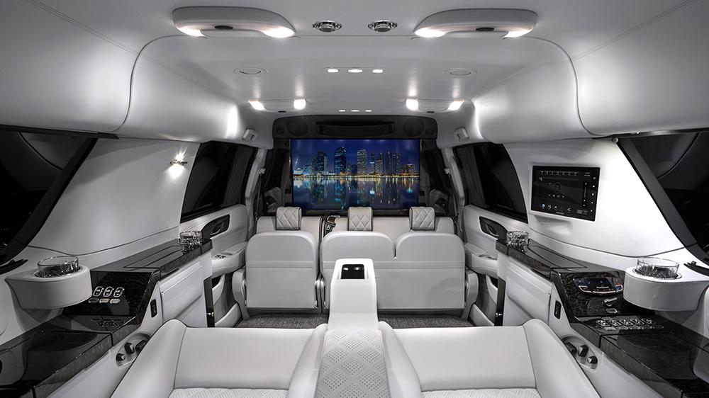 Inside Sylvester Stallone's Becker Cadillac Escalade ESV