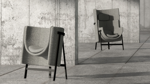Kite by Nendo lounge chairs