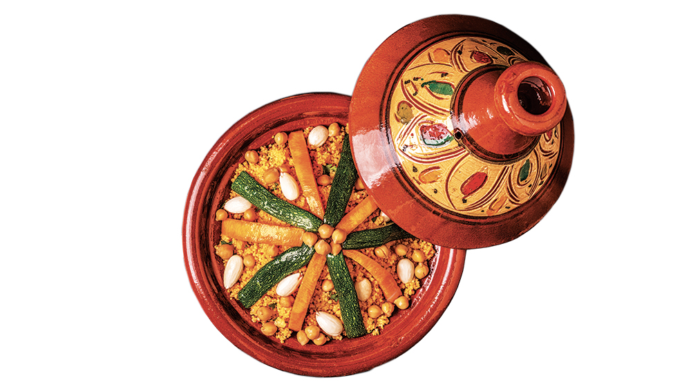 ; a couscous dish served in a tagine