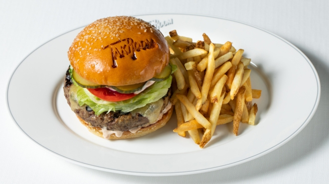 TAK Room cheeseburger
