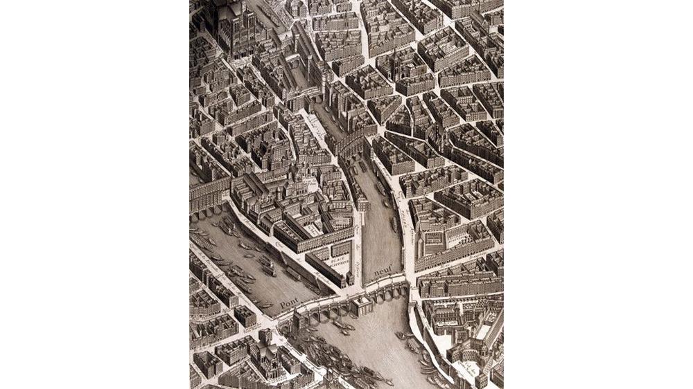 A Turgot map of Paris, done in 1762