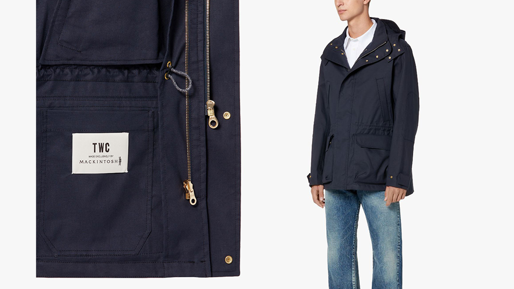TXC x Mackintosh Navy Cotton Shell Jacket