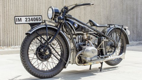 A 1928 BMW R57 motorcycle.