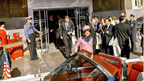 John and Jackie Kennedy leave for Dallas on the day he was killed.