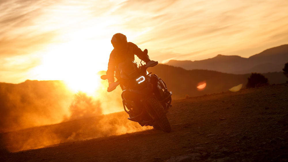 The BMW R 1250 GS Adventure motorcycle.