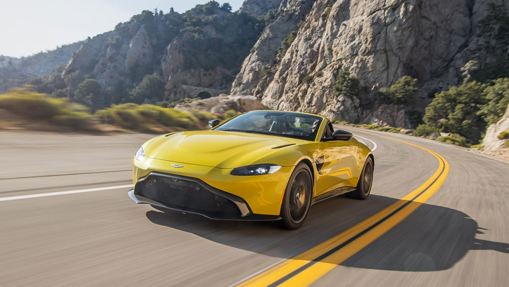 The Aston Martin Vantage Roadster.