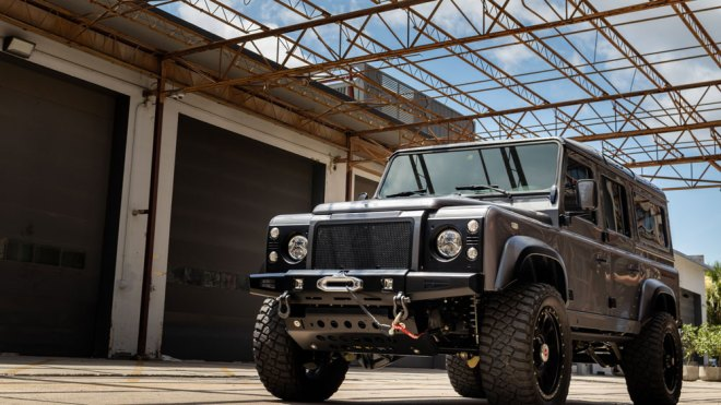 A one-off Himalaya restomod of the Defender 110.