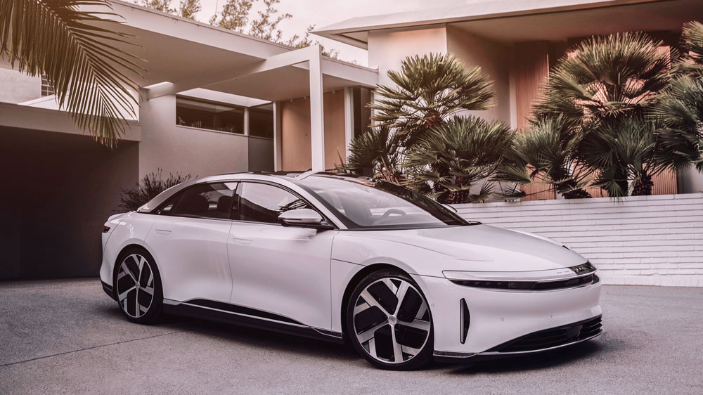 The Lucid Air all-electric sedan.