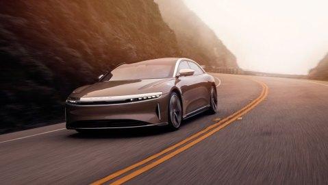 The Lucid Air all-electric sedan.