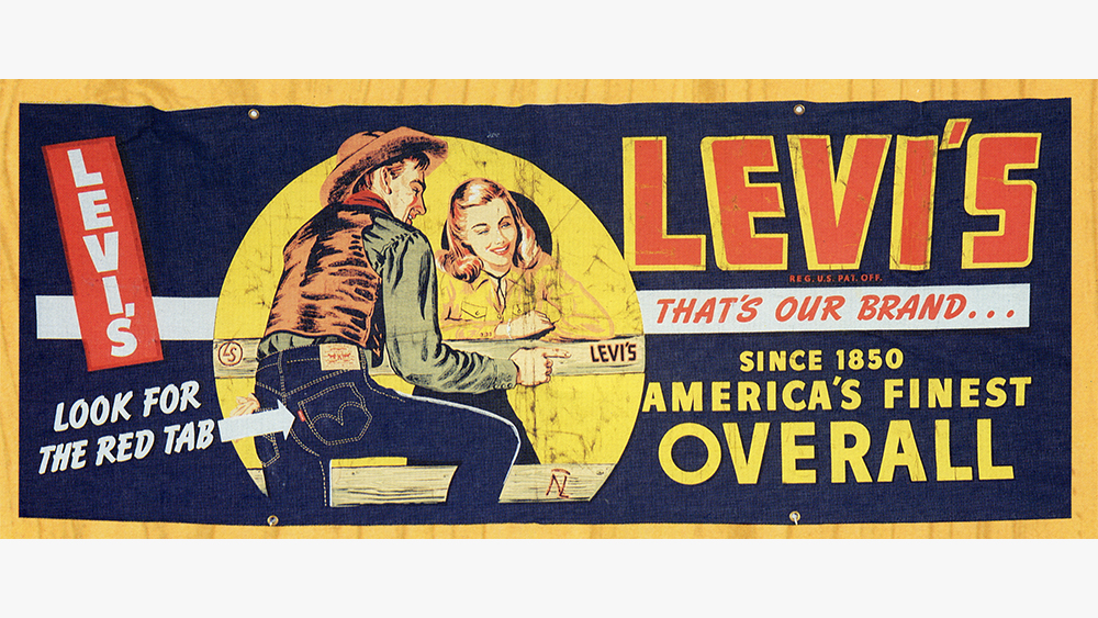 An archival Levi's advertisement