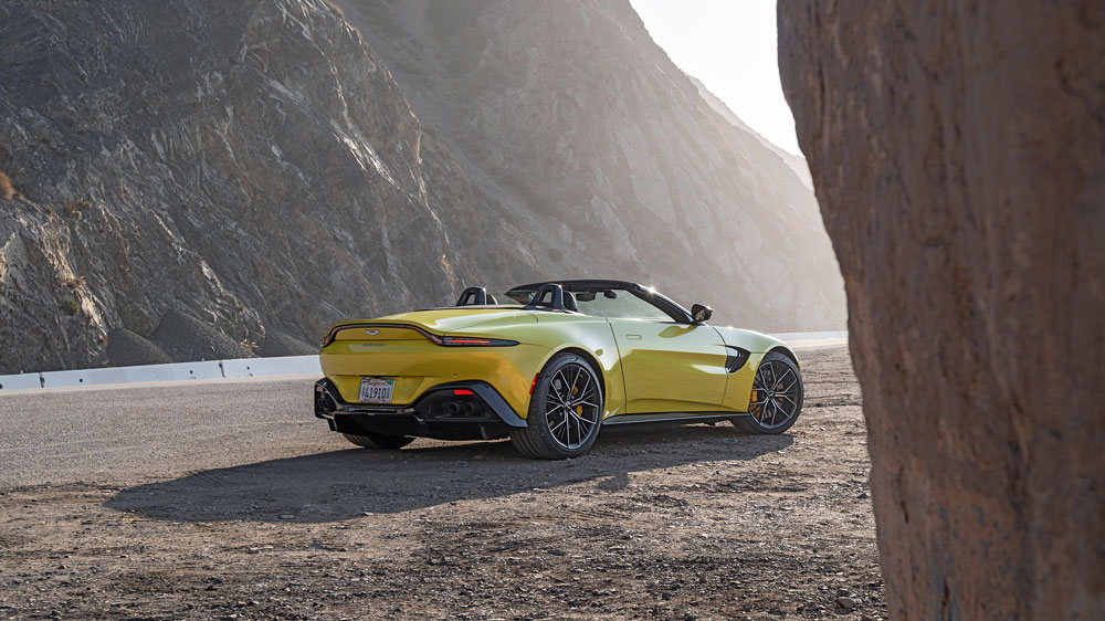 The Aston Martin Vantage Roadster.