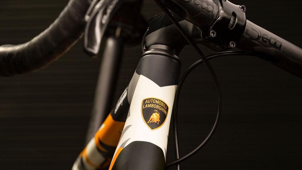 Cervélo's R5 Automobili Lamborghini Edition bicycle.