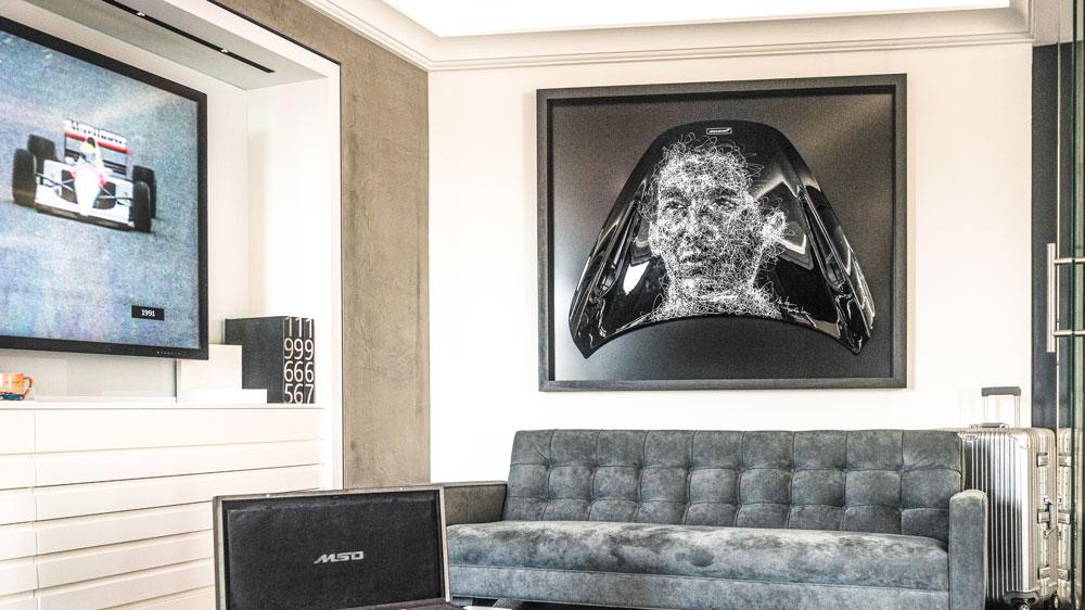 Inside La Maison McLaren in Paris.