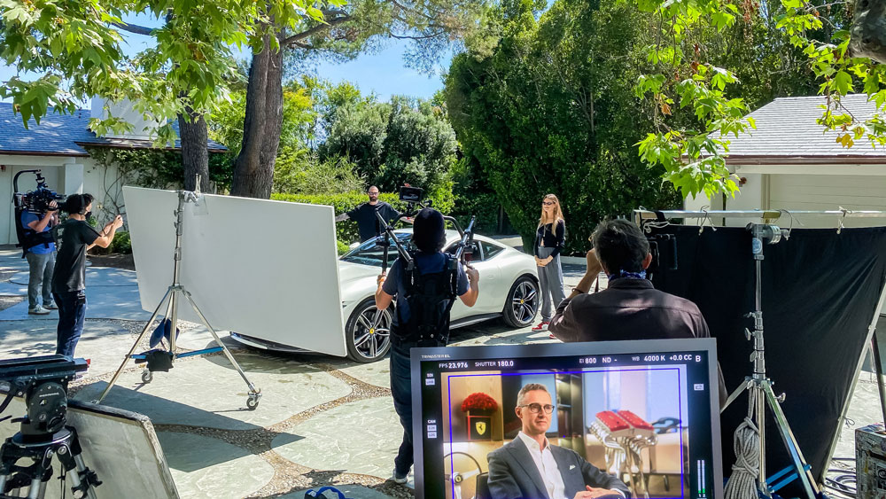 An exclusive Ferrari video presentation filmed with Adam Levine and Behati Prinsloo at their home in Los Angeles.