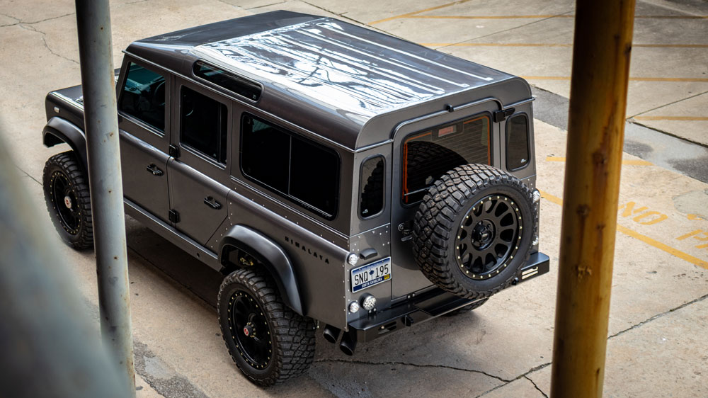 A one-off restomod from Himalaya of the Land Rover Defender 110.
