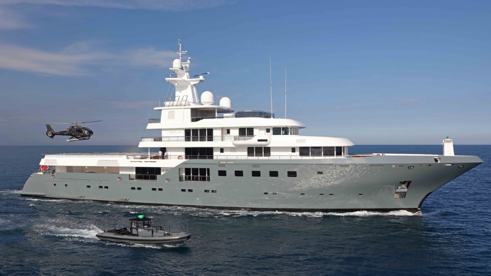 This 250-foot Superyacht Stars in Chriistopher Nolan Blockbuster Tenet
