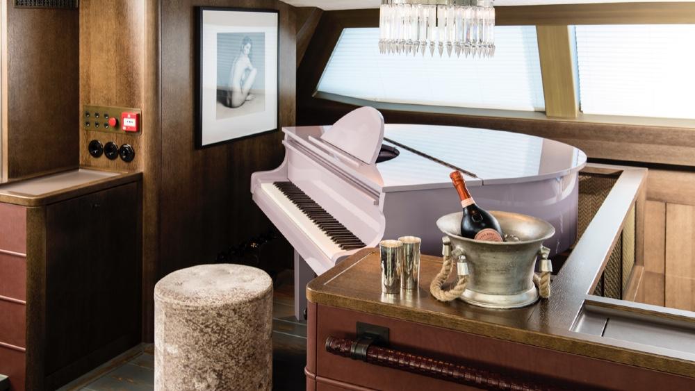 Mauve Player Piano in Pink Gin VI