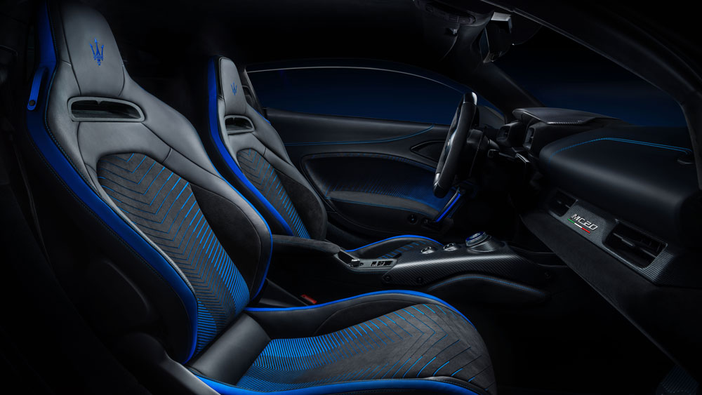 Inside the Maserati MC20.