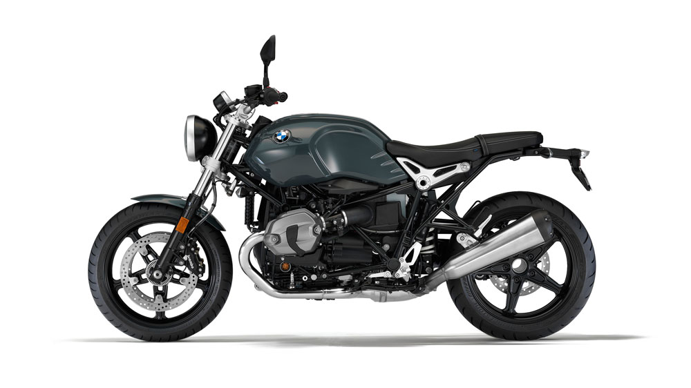 The BMW R NineT motorcycle.