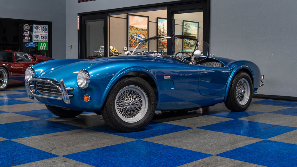 A Superformance MKII Slab Side continuation of the Shelby Cobra 289.