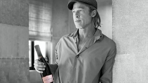 Champagne Fleur de Miraval and Brad Pitt