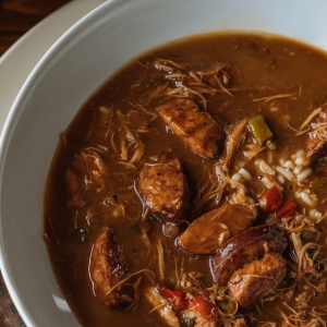chicken sausage cajun gumbo rice