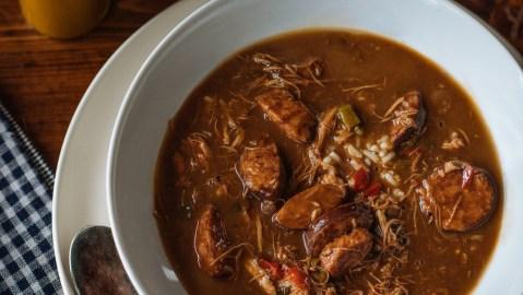 chicken sausage cajun gumbo rice