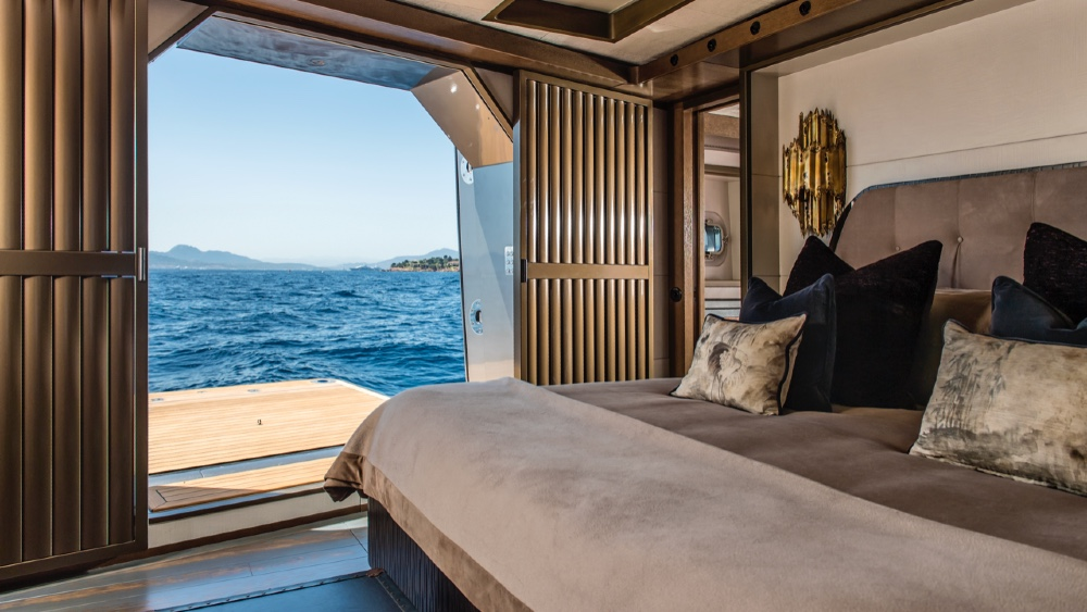 Master Suite Pink Gin VI Sailing Superyacht by Baltic