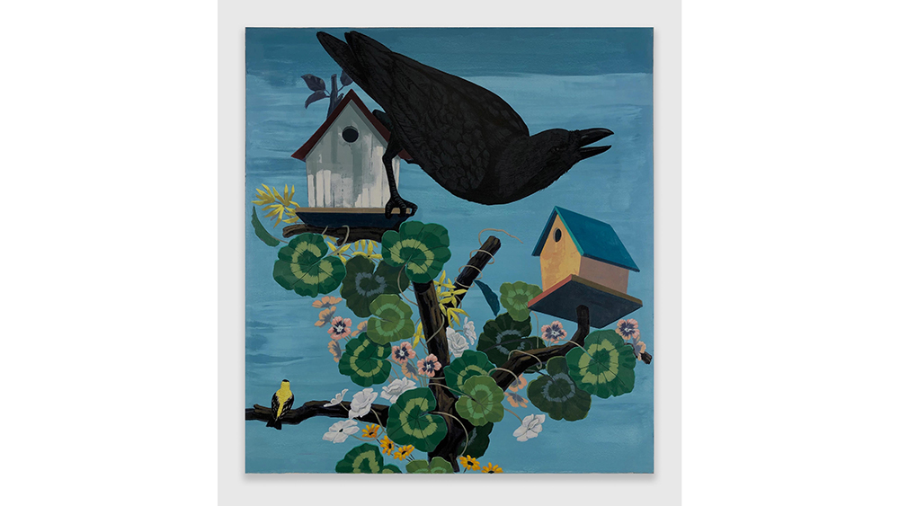 Kerry James Marshall's Black and part Black Birds in America: (Crow, Goldfinch)