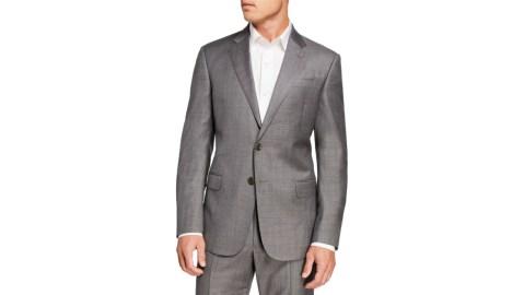 Giorgio Armani sharkskin suit