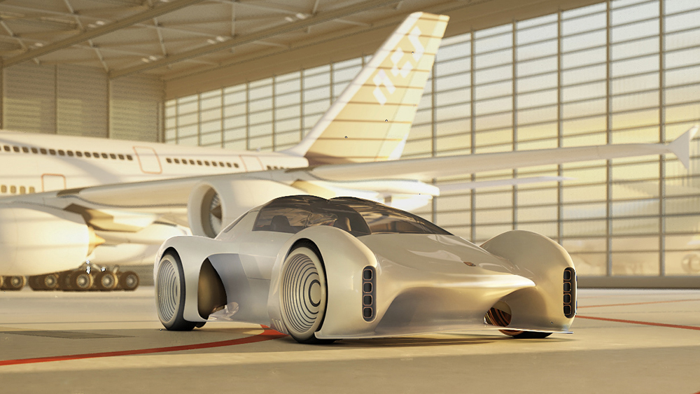 This Insane All-Electric Porsche 411 Concept Would Recharge Itself While Driving