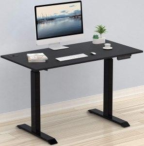 SHW Electric Adjustable Computer Desk