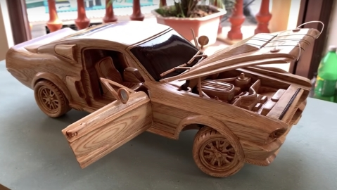 wood 1967 Ford Mustang
