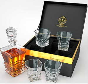 Maketh the Man Art Deco Whiskey Decanter And Glass Set