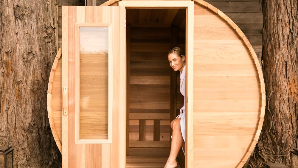 Ventana spa sauna