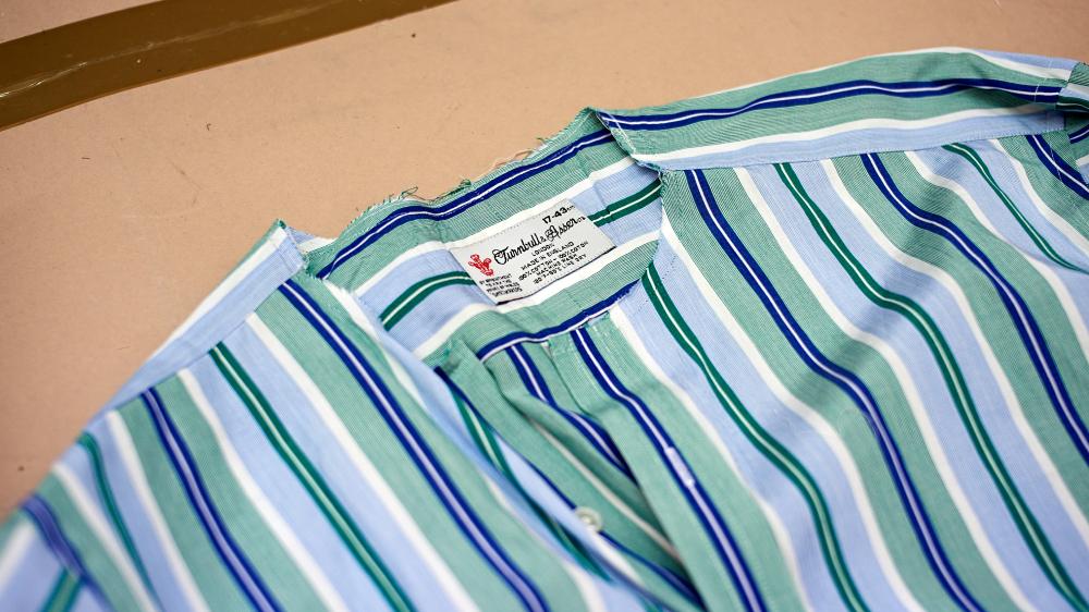 Turbull & Asser shirt repair