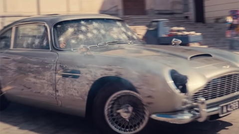 The Aston Martin DB5 in the 'No Time to Die' Trailer