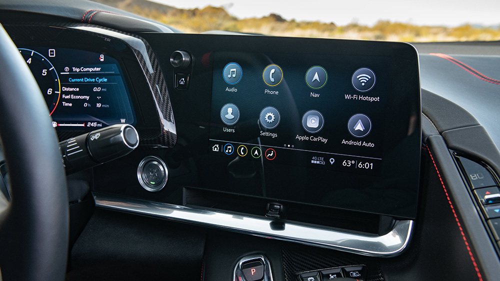 The C8 Corvette's Infotainment 3 Plus system