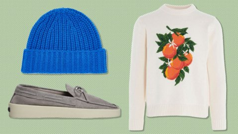Lock & Co. beanie, Casablanca sweater, Fear of God x Ermenegildo Zegna loafer