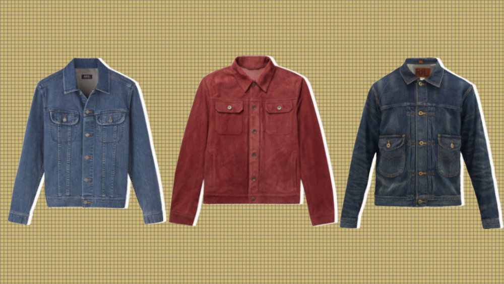 Trucker jackets from A.P.C., Valstar and RRL.