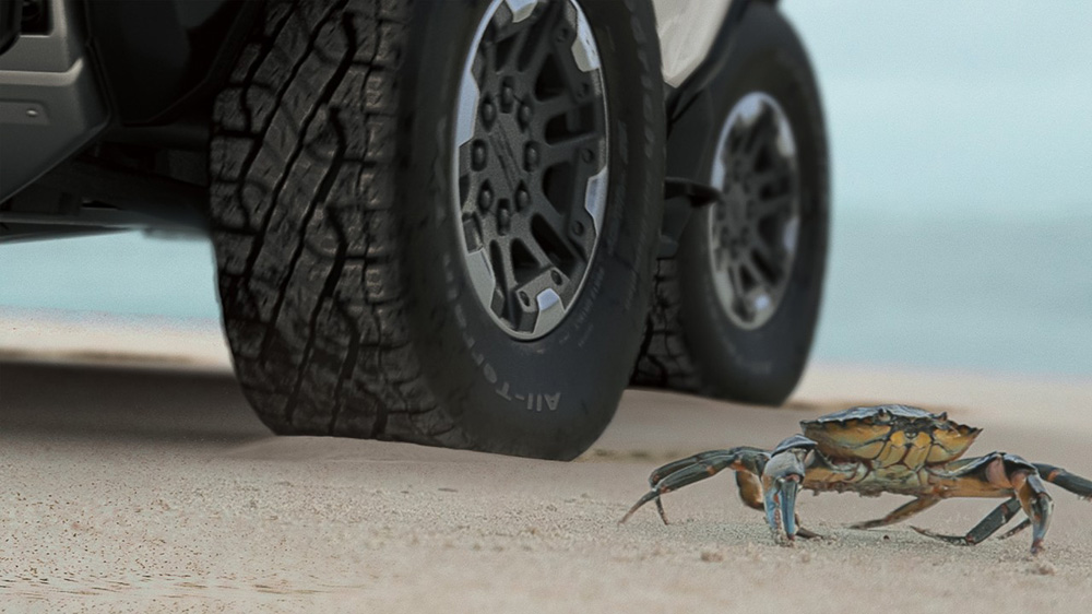 The GMC Hummer's Crab Mode
